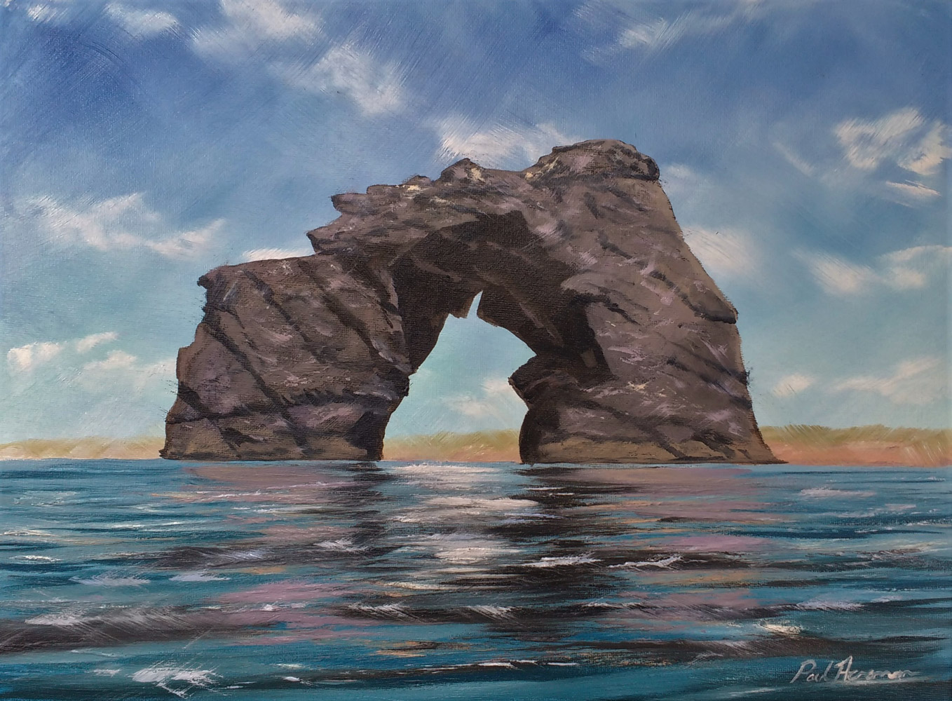 Paul-Acraman-seascape-painting-Devon-Thurlestone Rock