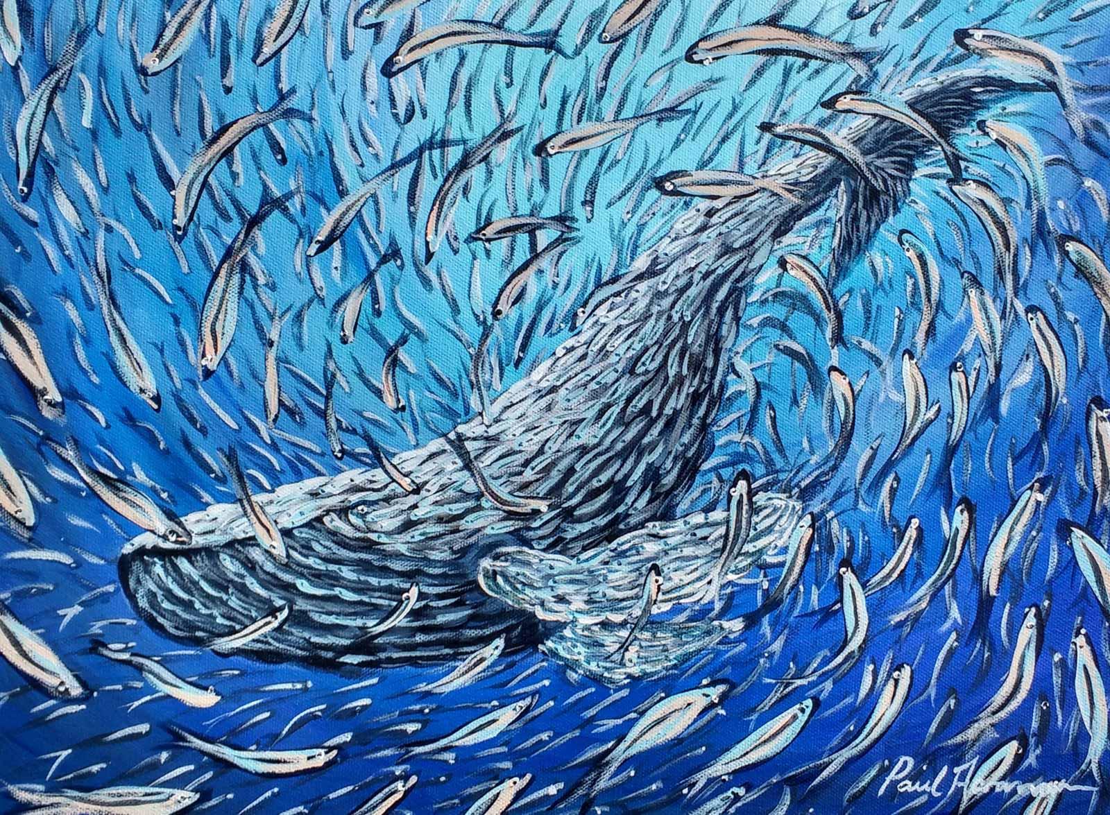 Paul Acraman-fantasy-sea-painting-whale-Ocean Dream Blue Whale