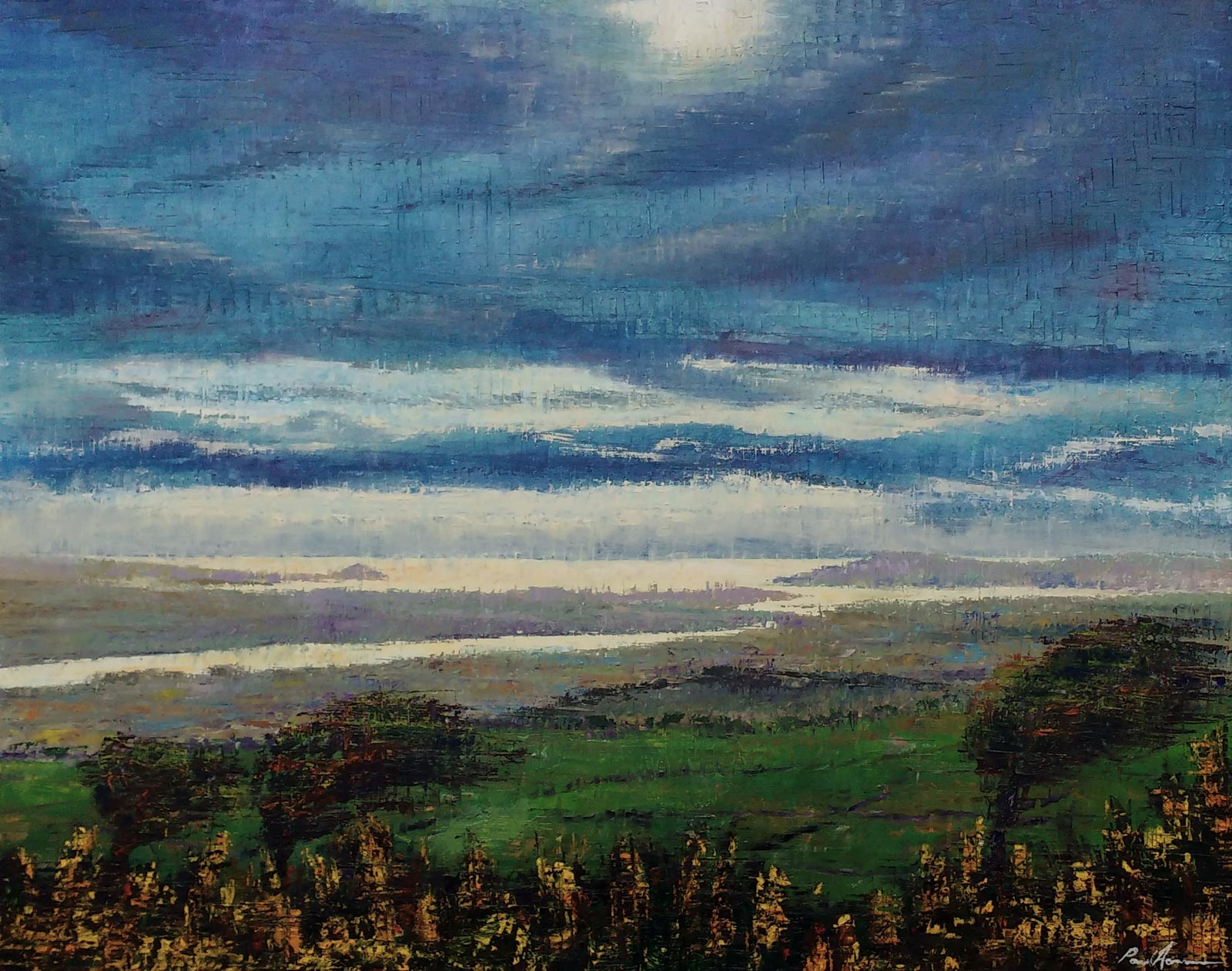 Paul Acraman-landscape-painting-Cornwall-View from Kit Hill