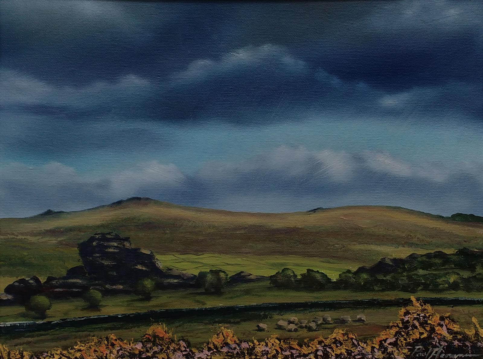 Paul Acraman-landscape-painting-Devon-Dartmoor-Vixen Tor