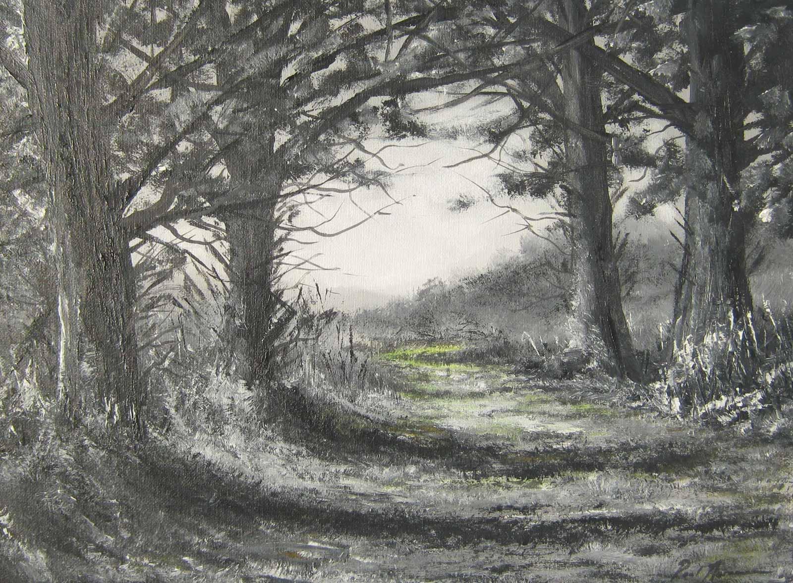 Paul Acraman-landscape-painting-Devon-Path to the Light