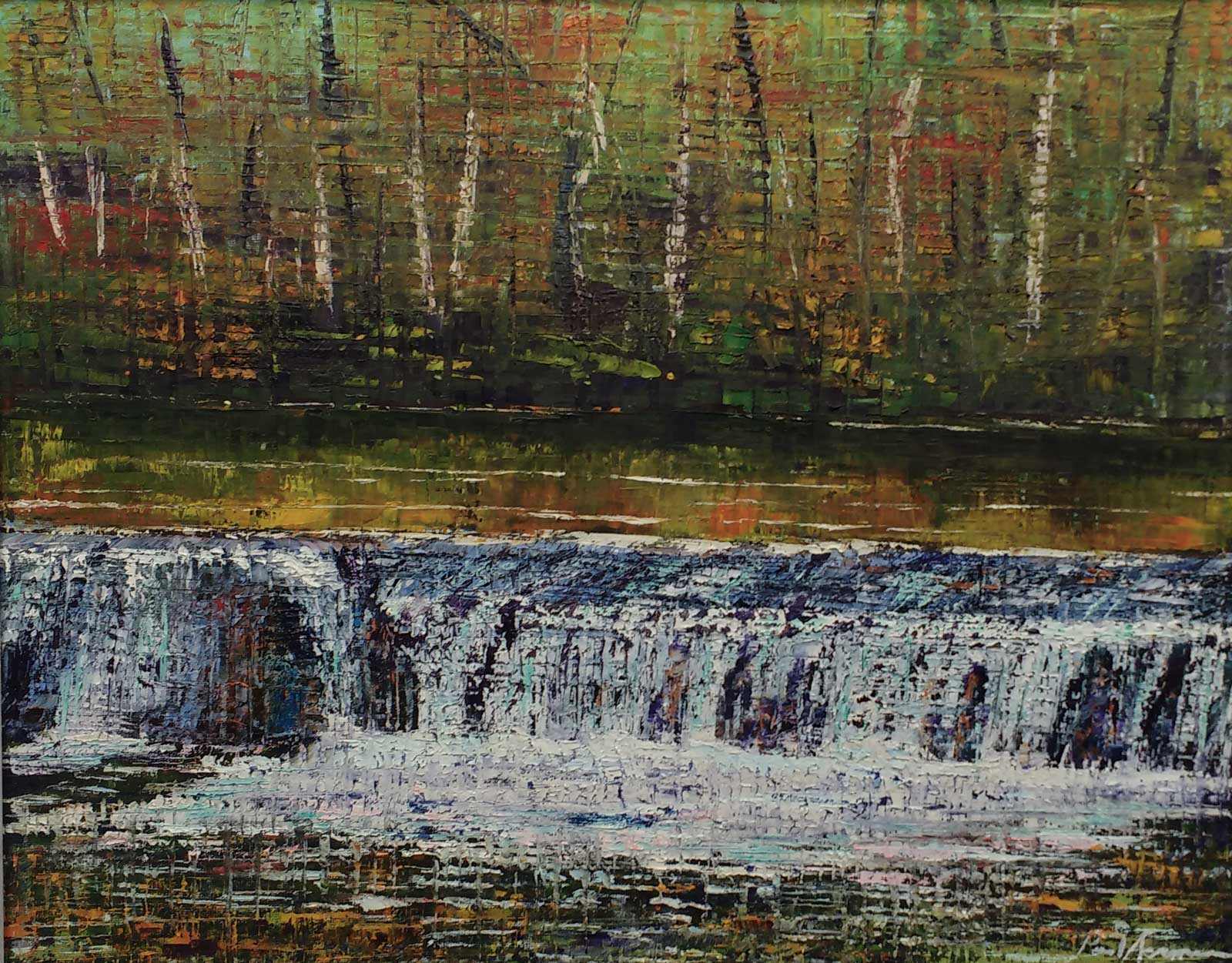 Paul Acraman-landscape-painting-Devon-Plymbridge Weir