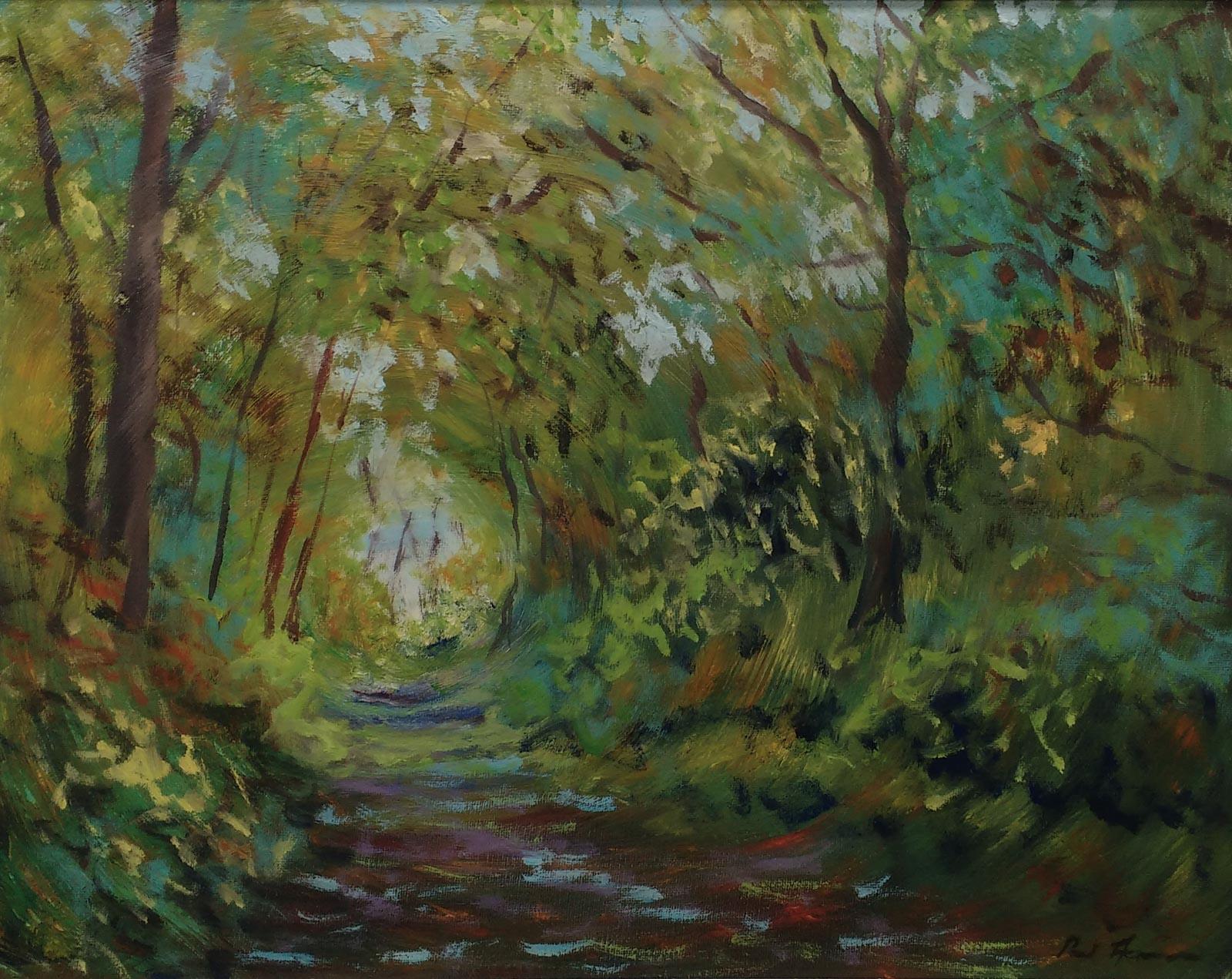 Paul Acraman-landscape-painting-Devon-Woodland Tunnel