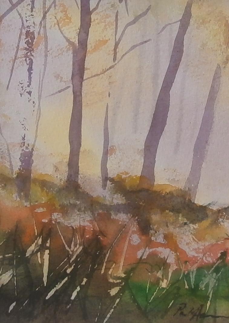 Paul Acraman Landscape Painting Trees Devon Autumn Woods
