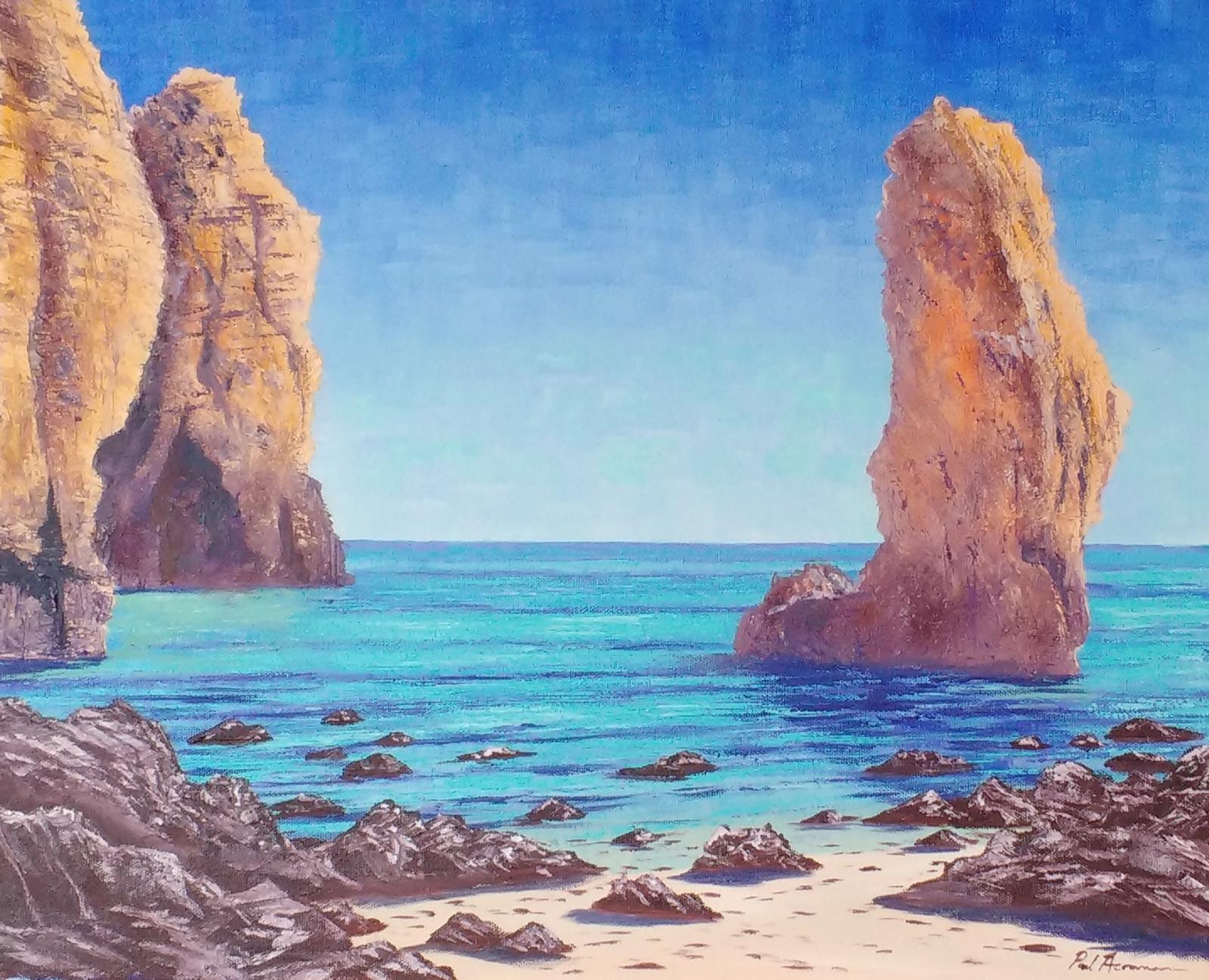 Paul Acraman-seascape-painting-Algarve-Ponta da Piedade,Lagos