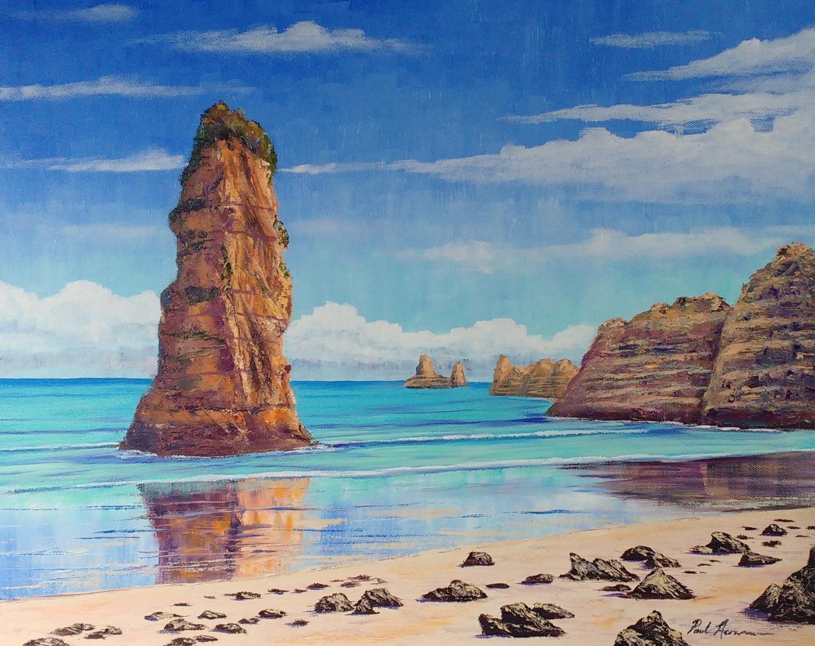 Paul Acraman-seascape-painting-Algarve-Praia Dona Ana, Lagos