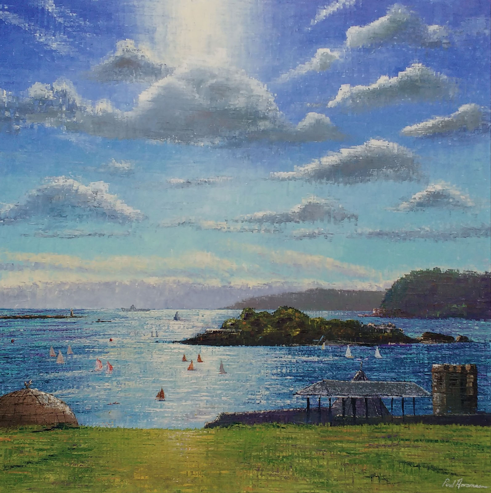 Paul Acraman-seascape-painting-Plymouth-Devon-Light on the Hoe