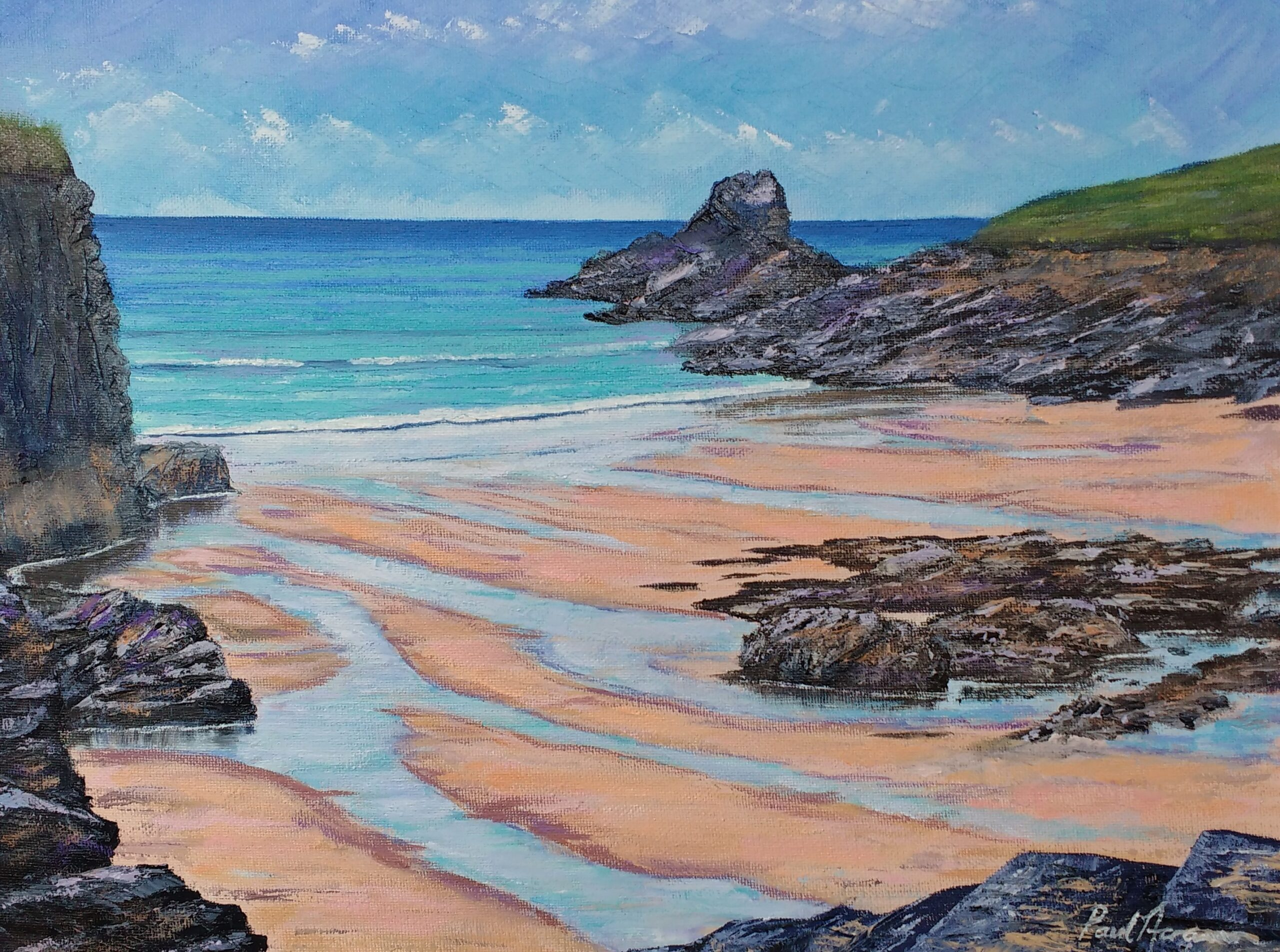Paul Acraman-seascape-painting-Algarve-Ponta da Piedade, Lagos 2