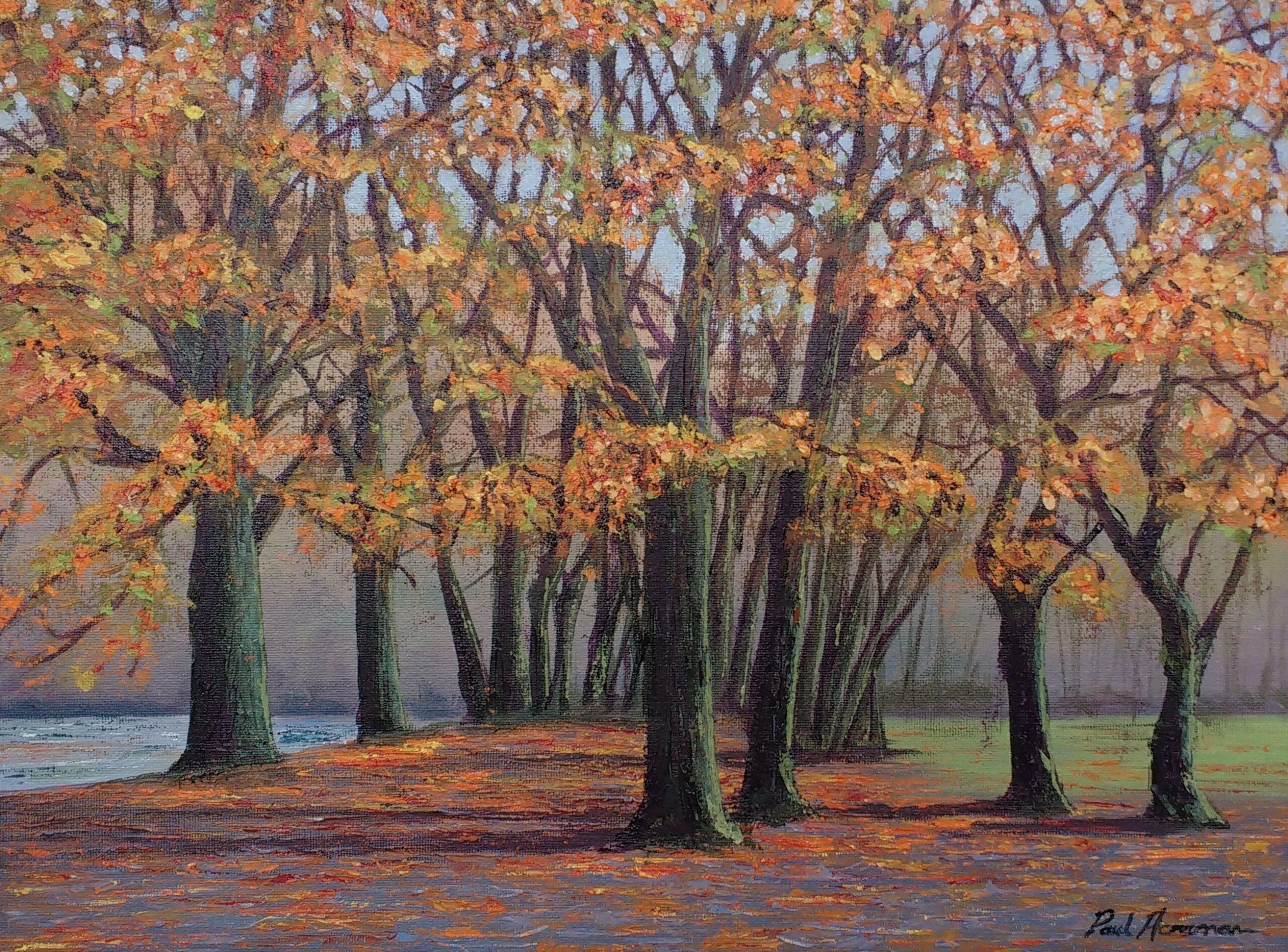 Paul Acraman-landscape-painting-Trees-Devon-Trees near Noss Mayo